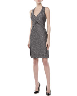 Zac Posen Sleeveless Crisscross Sheath Dress, Navy