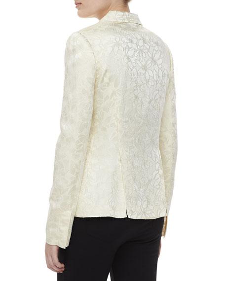 Two-pocket Jacquard Jacket, Ivory