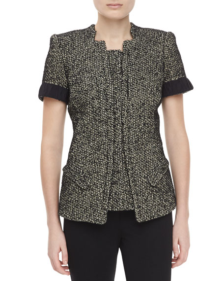 Tweed Short-Sleeve Jacket