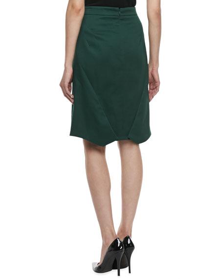 Textured Pencil Skirt, Dark Green