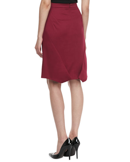 Textured Crepe Pencil Skirt