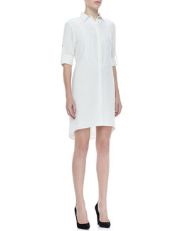 Rag & Bone Prairie Tab-Sleeve Shirtdress