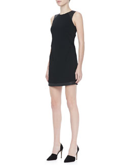 Rag & Bone Nudie Tonal-Trim Dress