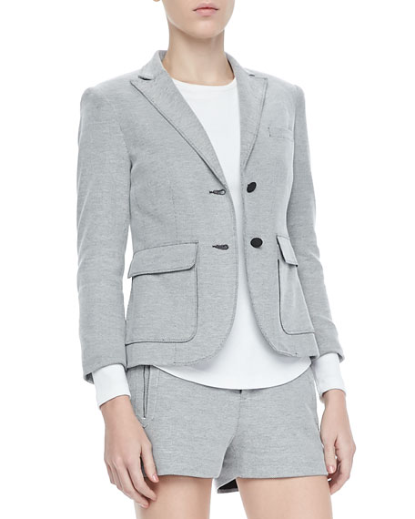 Nancy Double-Button Cotton Blazer