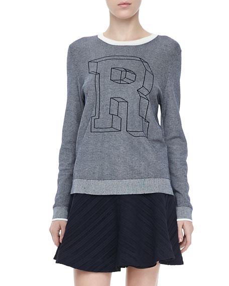"""Rina """"R"""" Knit Sweatshirt"""