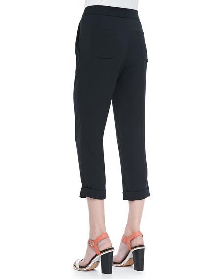 Cropped Cuffed Beach Pants