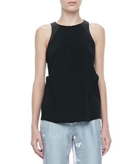 Rag & Bone Nudie Tonal-Trim Top