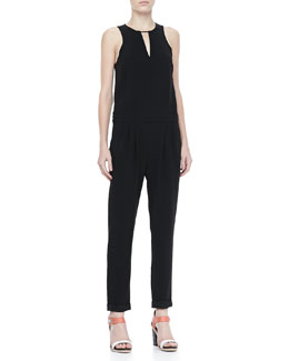 Rag & Bone Lana Sleeveless Drop-Waist Jumpsuit