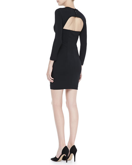 Allison Fitted Cutout-Back Dress