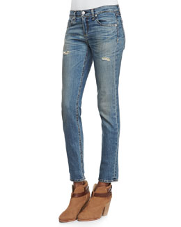 rag & bone/JEAN Dre Slim Boyfriend Distressed Jeans