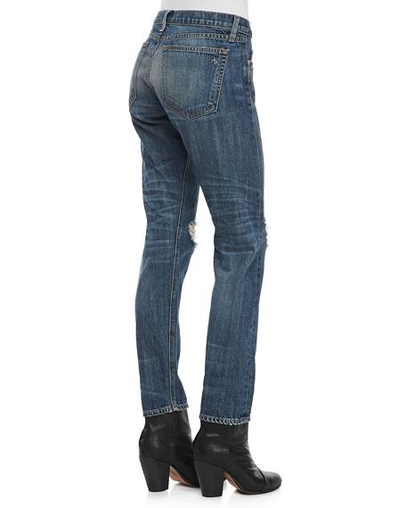 Boyfriend Buckley Ripped-Knee Jeans