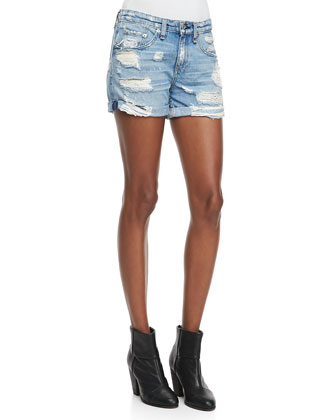 Boyfriend Rebel Distressed Shorts