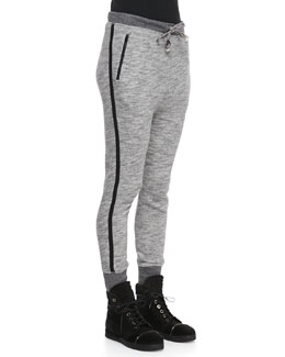 rag & bone/JEAN Murphy Dropped-Front Sweatpants