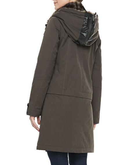 The Faux-Fur-Trim Storm Coat
