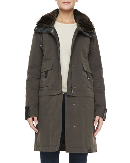 The Faux-Fur-Trim Storm Coat