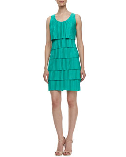 Laundry by Shelli Segal Sleeveless Pleated Jersey Dress