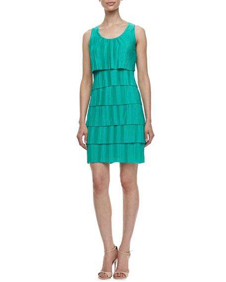 Sleeveless Pleated Jersey Dress