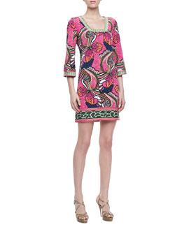 Laundry by Shelli Segal Print Square Neck Jersey Dress, Multicolor