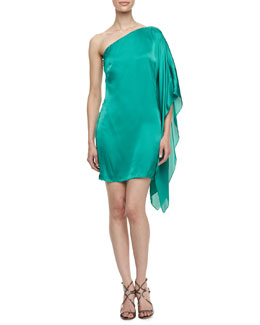 Laundry by Shelli Segal One-Shoulder Asymmetric Dress
