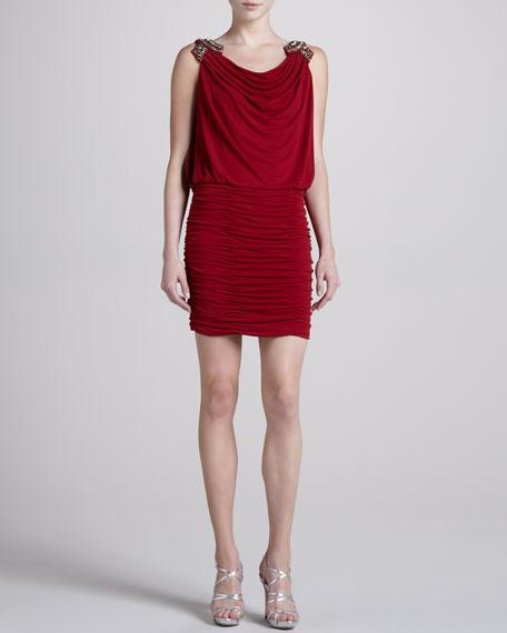 Embellished-Shoulder Dress, Vixen