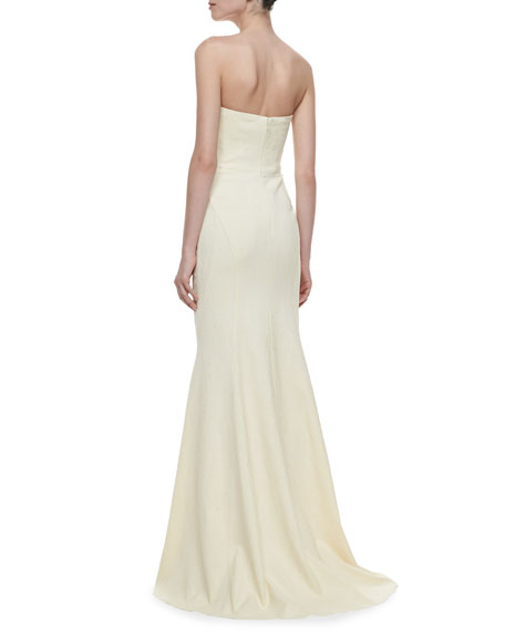 Strapless Mermaid Gown, Ivory