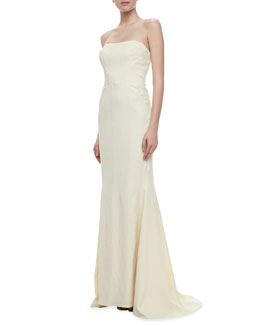 Zac Posen Strapless Mermaid Gown, Ivory