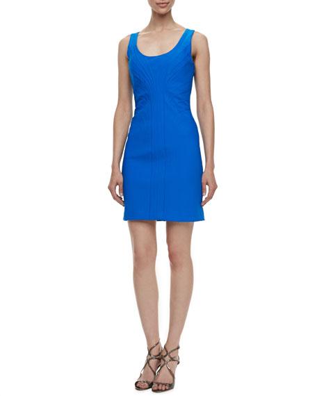 Sleeveless Center-Seam Sheath Dress