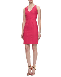 Laundry by Shelli Segal Sleeveless Crisscross Waist Travel Dress, Candy