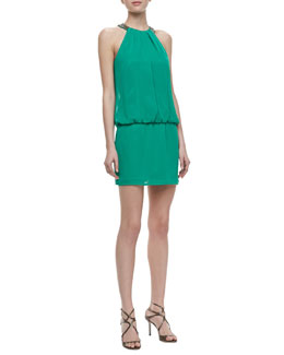 Laundry by Shelli Segal Ring-Neck Cocktail Dress
