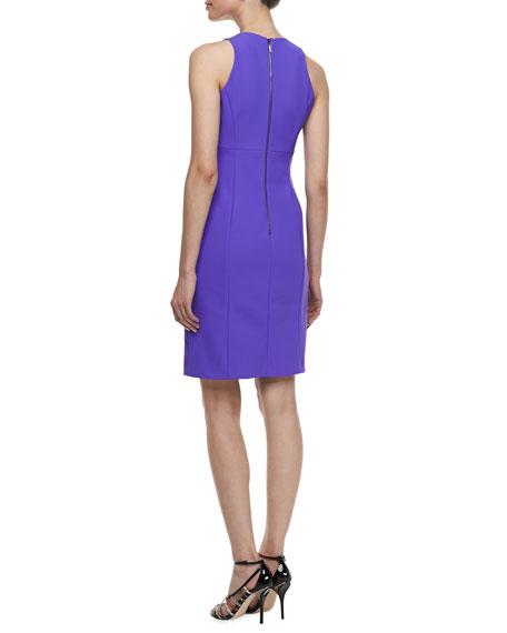 Sleeveless Pleated Travel Dress, Bright Violetta
