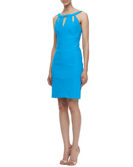 Laundry by Shelli Segal Travel Sleeveless With Cut-Out-Design Sheaf Travel Dress