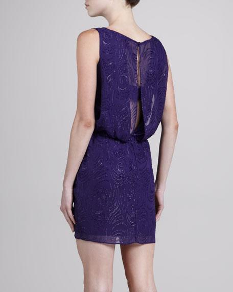 Clipped Swirls Chiffon Dress