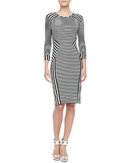 Diane von Furstenberg Haven Black and White Dress