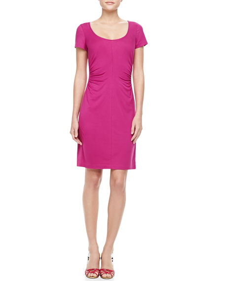 Bally Short Sleeve Ruched Dress