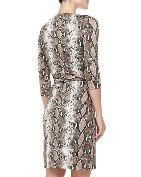 New Julian Two Python-Print Silk Jersey Dress