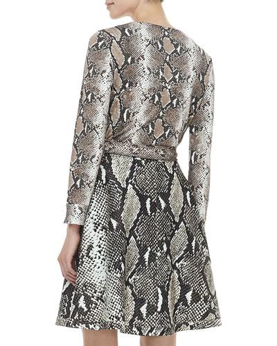 Dvf Amelia Python Print Dress OC T GA