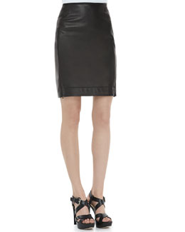 Diane von Furstenberg Rita Two Leather Skirt