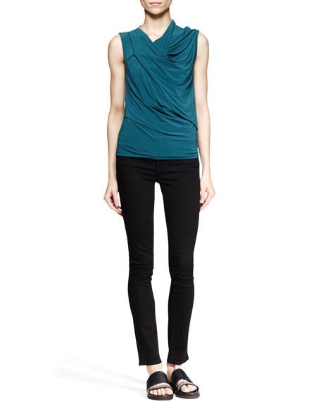 Five-Pocket Skinny Jeans, Black