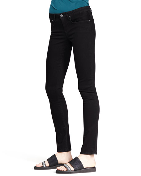 Five-Pocket Skinny Jeans, Black