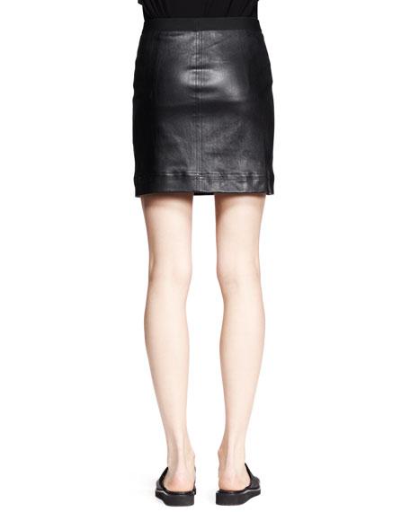 Plonge Leather Pencil Skirt