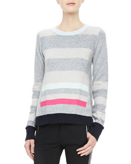 Diane von Furstenberg Beth Striped Cashmere Sweater