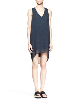 Helmut Lang Breeze Sleeveless V-Neck Dress