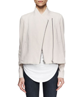 Helmut Lang Double-Zip Sweatshirt-Knit Jacket