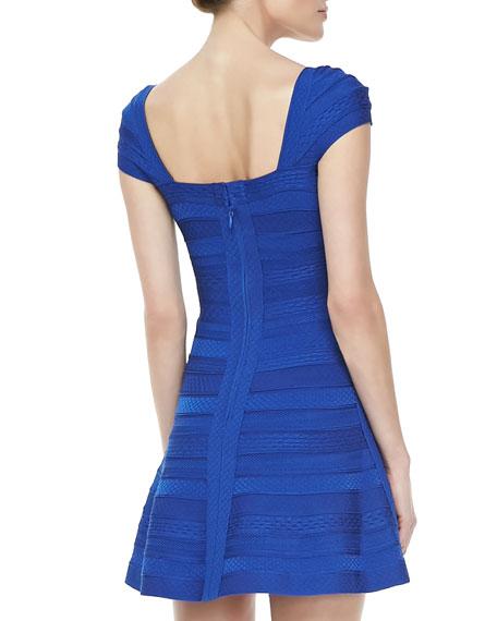 Patterned A-Line Bandage Dress