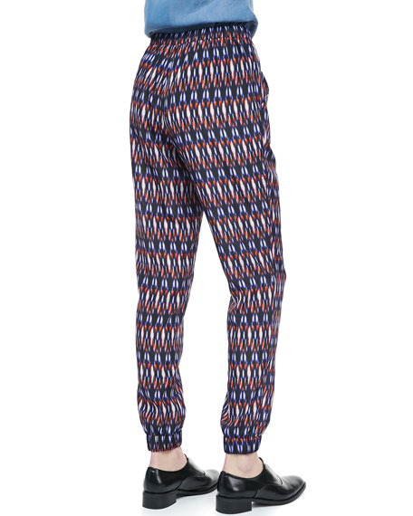 Printed Drawstring Easy Pants