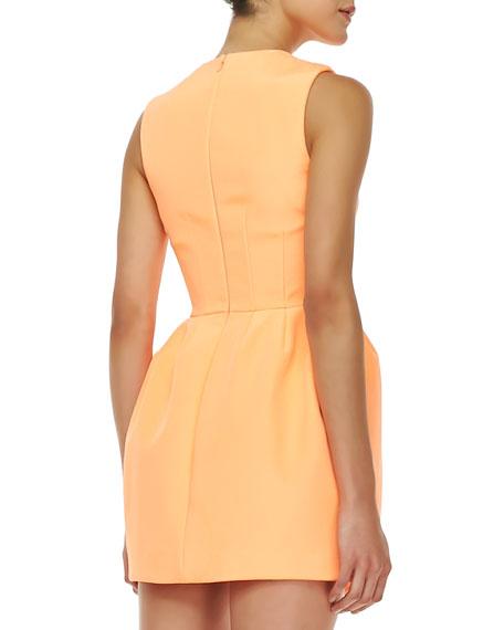 Pink Matter Woven Dress, Peach Pop
