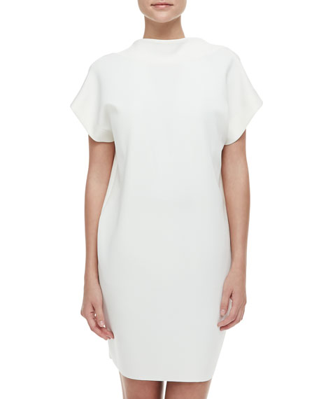 Runway Neoprene Dress, White