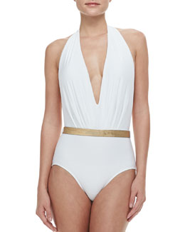 Lenny Niemeyer Double Tie Belted Maillot