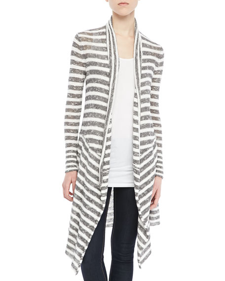 Forget Me Not Long Striped Cardigan