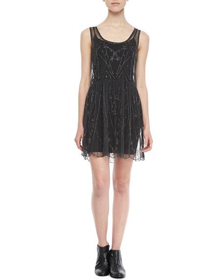 Sleeveless Beaded Slip Dress